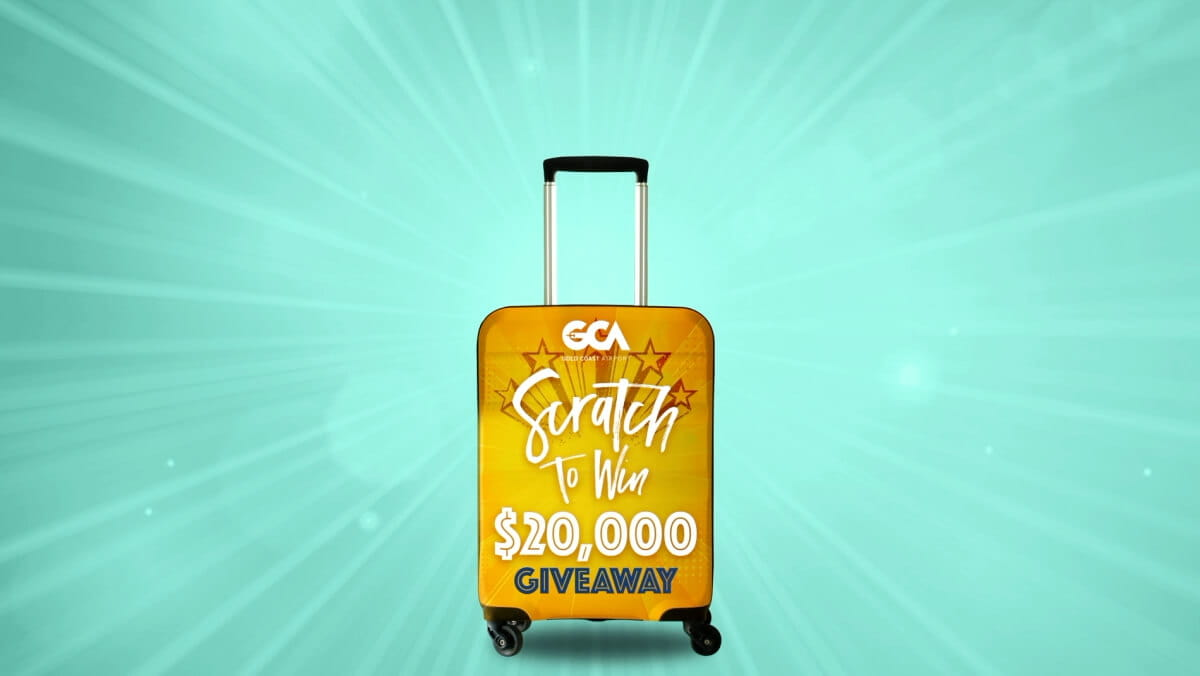 Gold Coast Airport scratch to win competition banner